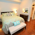 Large bedroom in fully furnished rental suite at 380 Dufferin Ave