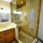 Ensuite bathroom in fully furnished rental suite, in 380 Dufferin Ave, London, ON