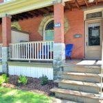 Front porch at fully furnished apartment in Woodfield district, at 565 Princess Ave, London, ON