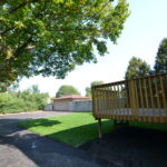 Back yard at fully furnished 3 bedroom apartment at 1-642 Southdale Rd E, London, ON