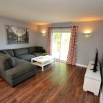Fully furnished living room in 3 bedroom apartment at 1-642 Southdale Rd E, London, ON