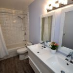 Bathroom in fully furnished 3 bedroom apartment at 1-642 Southdale Rd E, London, ON