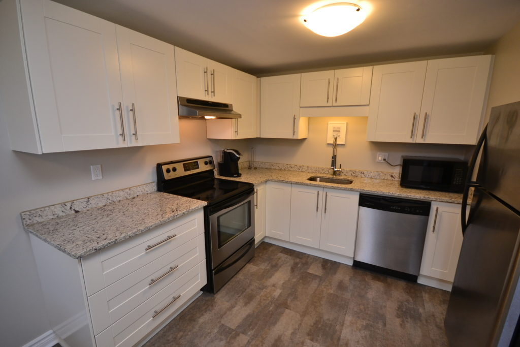 Modern kitchen in 2-1285 Westdel Bourne fully furnished 2 Bedroom apartment, London, ON