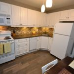 Modern kitchen in Furnished apartment at 3-380 Dufferin Ave, London, ON