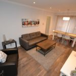 Furnished living room in rental suite at 3-380 Dufferin Ave, London, ON