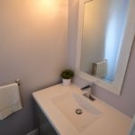 Half bathroom in fully furnished 3 bedroom apartment at 3-642 Southdale Rd E, London, ON