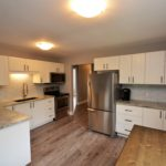 Modern kitchen in fully furnished 3 bedroom apartment at 3-642 Southdale Rd E, London, ON