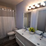 Bathroom in fully furnished 3 bedroom apartment at 3-642 Southdale Rd E, London, ON