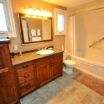 Large bathroom in furnished rental suite at 380 Dufferin Ave, London, ON