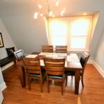 Dining room in fully furnished apartment at 380 Dufferin Ave, in London, ON