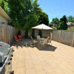 Large Private Brick Courtyard at furnished apartment, 567 Princess Ave, London, ON