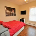 Bedroom in fully furnished bachelor apartment at 572 Piccadilly Street, London, ON
