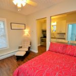 Bedroom in fully furnished bachelor suite at 572 Piccadilly Street, London, ON