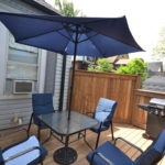 Outdoor patio at fully furnished bachelor suite at 572 Piccadilly Street, London, ON