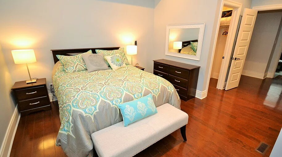 master bedroom furnished suite rental image