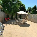 outdoor patio area furnished rental downtown london ontario